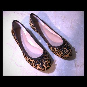 New Banana Republic Leopard Ballet Flats 7 M